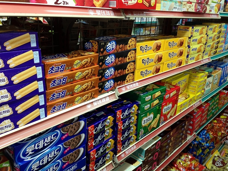 韓国 スーパー 値段表記