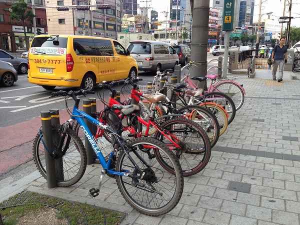 韓国 自転車