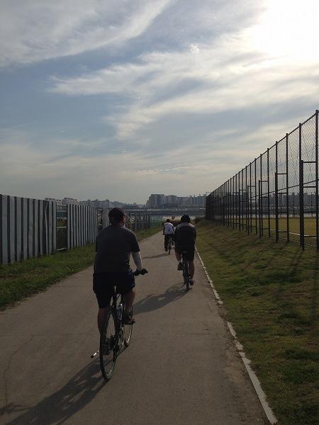 漢江 サイクリング