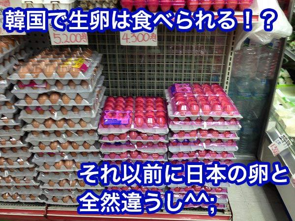 韓国 生卵