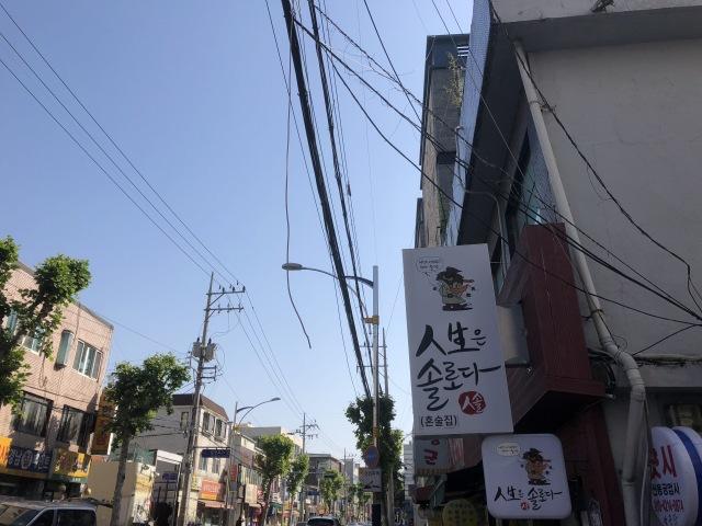 韓国 電線