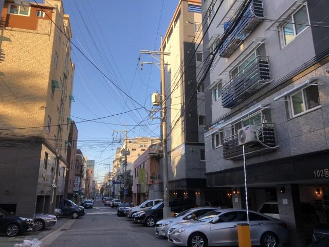 韓国 電柱
