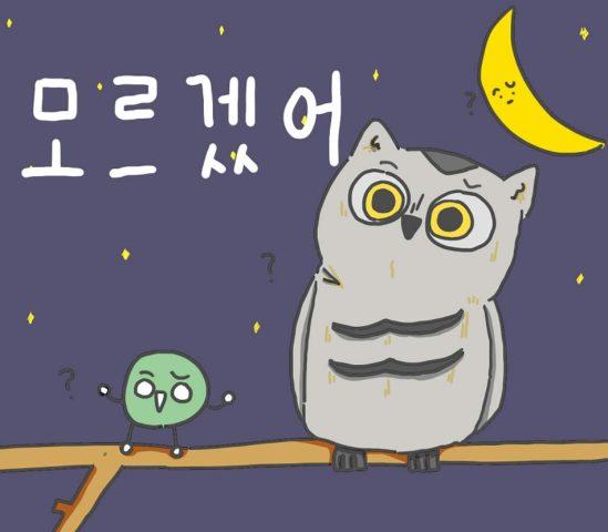 韓国語 モルゲッソ