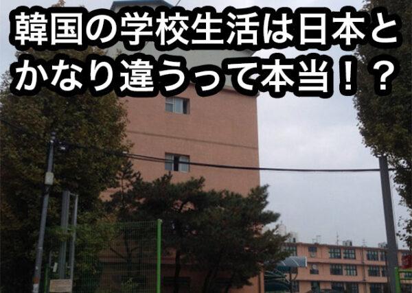 韓国と日本の違い 学校