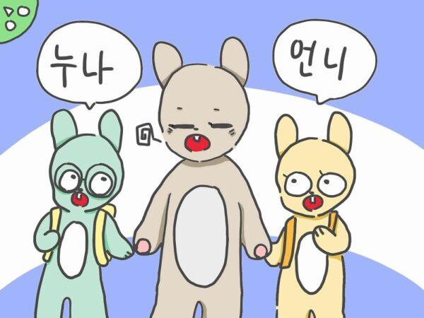 韓国語 お姉さん
