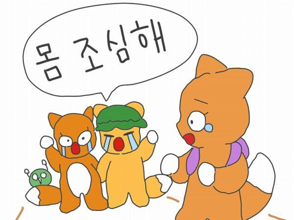 体に気を付けて 韓国語